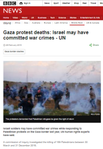 BBC News website unquestioningly amplifies UNHRC's report