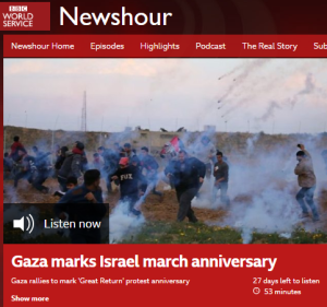More one-sided Gaza coverage on BBC World Service radio