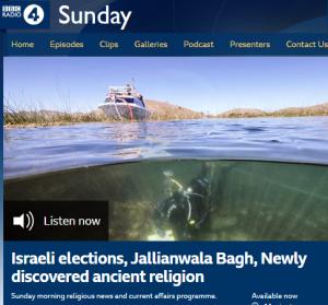 BBC Radio 4 religious programme does Israeli politics