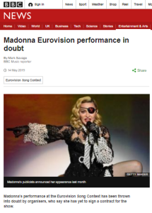 Context-free amplification of Eurovision boycott calls persists at BBC News