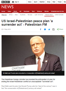 BBC News plugs PA rejection of US peace initiative