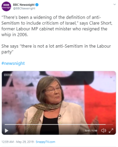 BBC 2 'Newsnight' fails to challenge misinformation on antisemitism