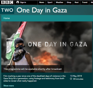 BBC Two's 'One Day in Gaza' adheres to existing BBC practice