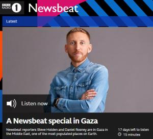 BBC Radio 1 'Newsbeat' Gaza special – part one