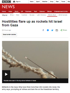 BBC News reporting on rocket attacks marred by inaccuracy and omission