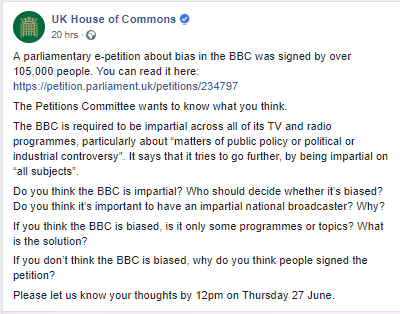 Have your say: UK parliament hosting online discussion on BBC impartiality