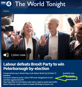 BBC Radio 4 fails to give the full picture on new Labour MP