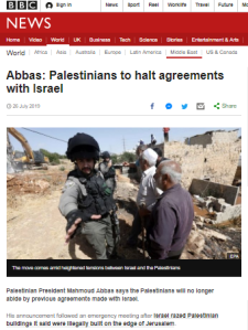 Once again the BBC reports selectively on statements made by Abbas