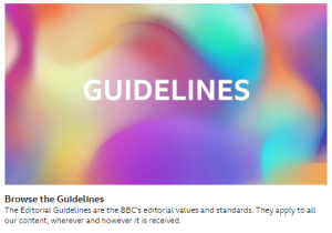 BBC publishes new Editorial Guidelines