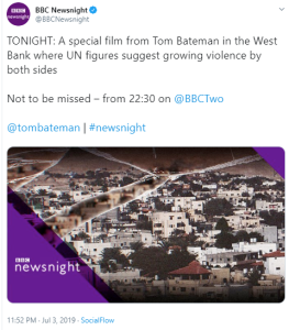 What was missing from a 'not to be missed' report on BBC Two's Newsnight?