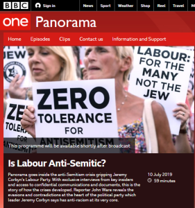 BBC's 'Is Labour Anti-Semitic?' documentary maker in conversation