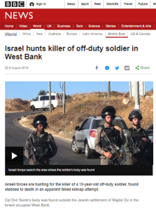 BBC reporting on Gush Etzion terror attack