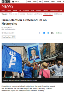 Reviewing BBC News website coverage of Israel's election