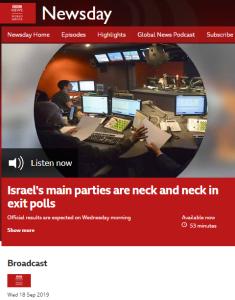 BBC WS radio promotes a political NGO's disinformation