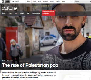 BBC Culture promotes Palestinian pop and a political narrative
