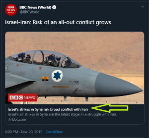Summary of BBC News website portrayal of Israel and the Palestinians – December 2019