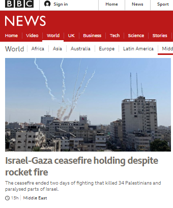 BBC doublethink on display in report on rocket attacks