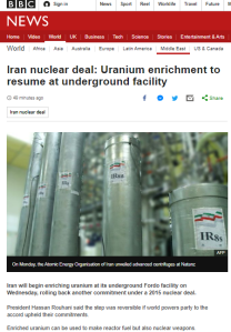 BBC News mantra on 'peaceful' Iranian nuclear programme returns