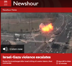 Rocket attacks on Israel prompt BBC WS interview with serial Gaza contributor