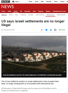 Reviewing three BBC reports on the US statement on 'settlements' – part two