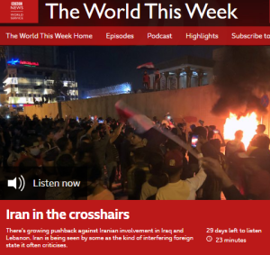 BBC WS radio framing of anti-Iran protests