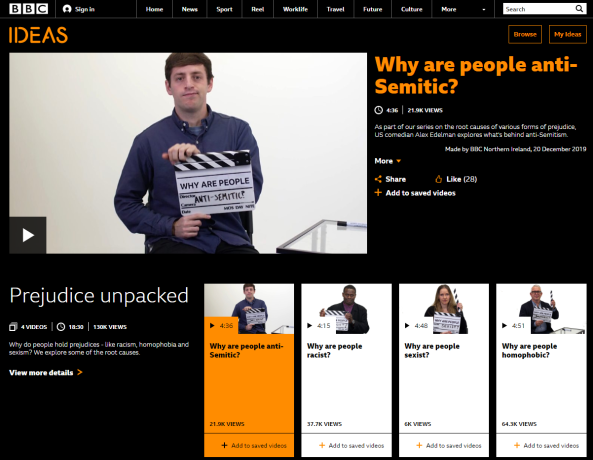 BBC Ideas tries – and fails – to explain 'the root causes' of antisemitism