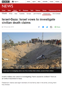 No BBC News follow-up on incident it reported in November