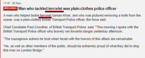 BBC again ignores its own editorial guidelines in London terror reports