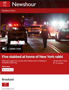 BBC World service radio reclassifies Hanukkah