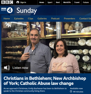 BBC Radio 4 religious show airs anodyne report on Palestinian Christians