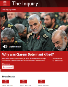 BBC WS radio gives uncritical amplification to Iranian ally's Israel comments