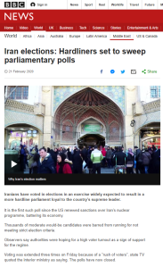 BBC News uncritically amplifies Iranian regime claim on voter turnout