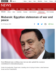 "BBC News tells readers of Sadat's ""victory in the 1973 Arab-Israeli conflict"""