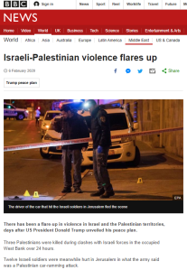 BBC News coverage of terrorism in Israel – February 2020